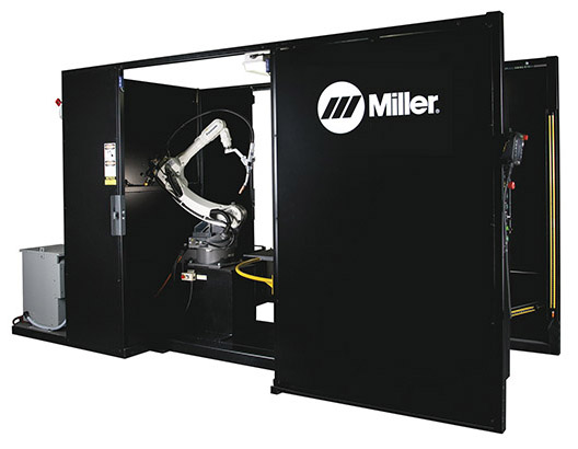 Image of PA350 MIG welding robotic cell from Miller