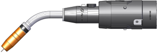TA3 MIG Gun for FANUC 100iD Robot Model Image - side view