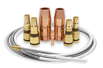 AccuLock S contact tip, nozzles, diffusers and liner