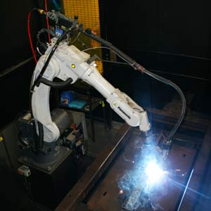 Robotic welding in manufacturing industry