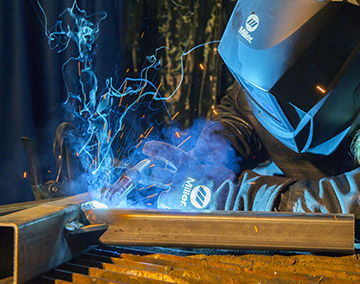 Image of a person welding