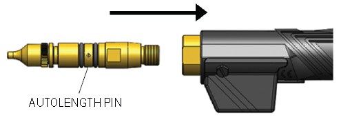 How To Install the AutoLength Pin, step 3
