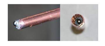 Image of MIG gun contact tip burnback