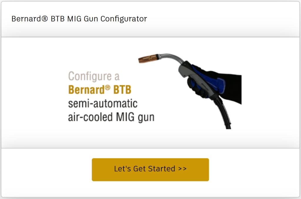 Configure a BTB semi-automatic air-cooled MIG gun online