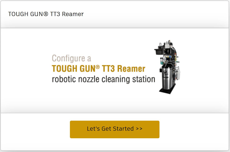 Configure a TOUGH GUN TT3 or TT3E reamer online