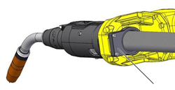 Dust cover prevents dust and debris from entering the back of the FANUC 100iD robot wrist for additional protection