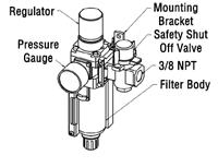How To Install the Filter/Regulator Unit to the TOUGH GUN TT3 Reamer, figure 1