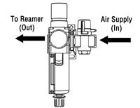 How To Install the Filter/Regulator Unit to the TOUGH GUN TT3 Reamer, figure 2