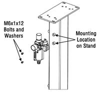 How To Install the Filter/Regulator Unit to the TOUGH GUN TT3 Reamer, figure 3