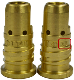 Image of Quik Tip diffuser showing roll mark