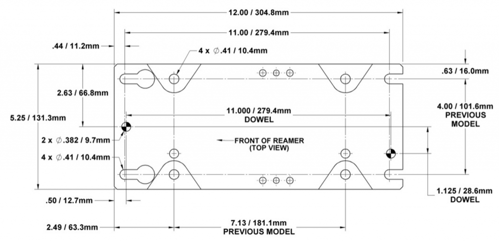 How To Install the TOUGH GUN Reamer TT Series, mounting hole locations and footprint