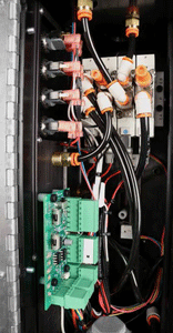 Image of new wiring harness on a reamer