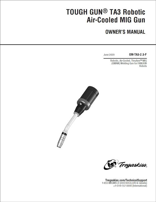Thumbnail of new cover for TOUGH GUN TA3 Robotic Air-Cooled MIG Gun Owner's Manual