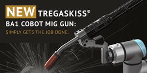 New Tregaskiss BA1 cobot MIG gun simply gets the job done