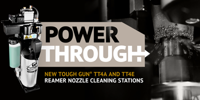 Power Through Spatter with the NEW TOUGH GUN TT4A and TT4E Reamer Nozzle Cleaning Stations